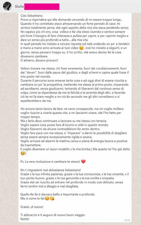 Testimonianza-Giulia percorso Sebastiano Dato